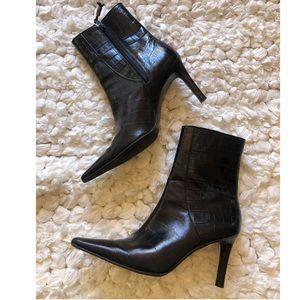 Ralph Lauren black leather boots size 8.5